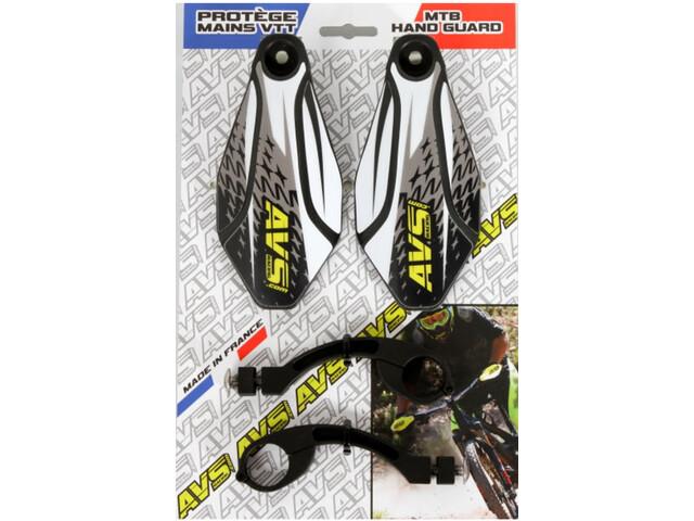 AVS Racing Kit Protège-mains avec Design, black/white